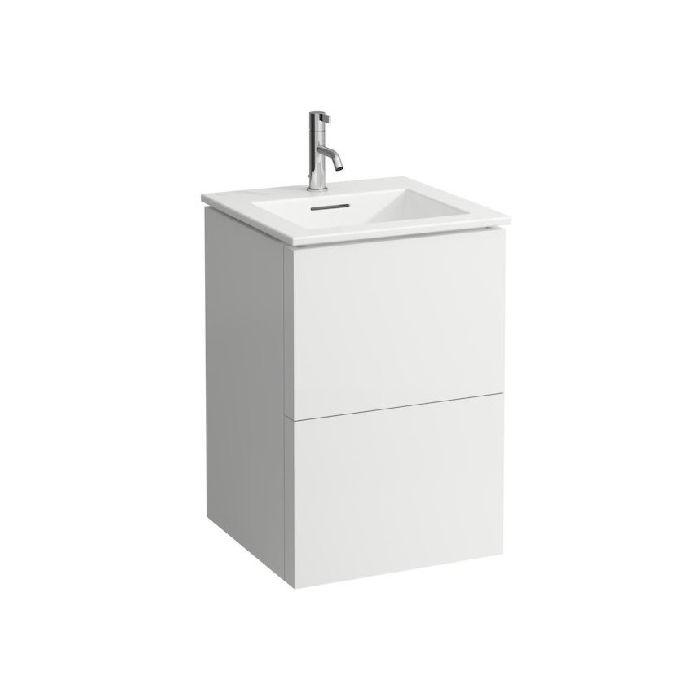 Laufen Kartell Set De Lavabo 8603316401041 Avec Meuble Vasque Blanc Blanc Matt