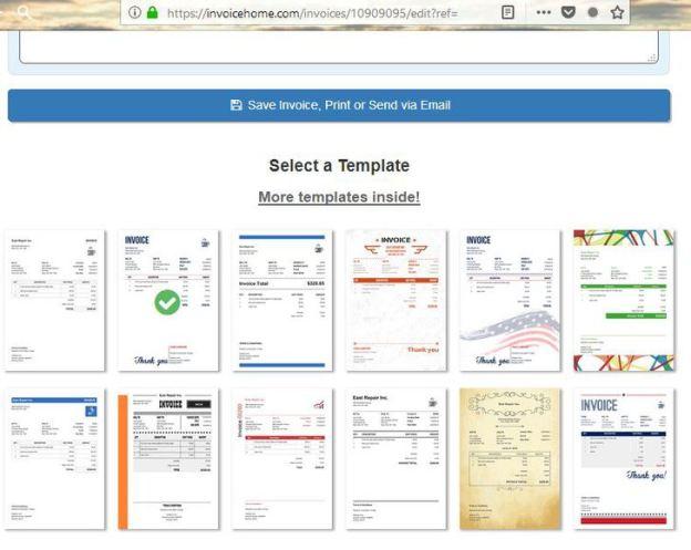 Invoice home free invoice generator