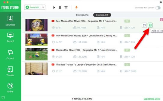 iTube studio YouTube video Downloader for Mac OS X