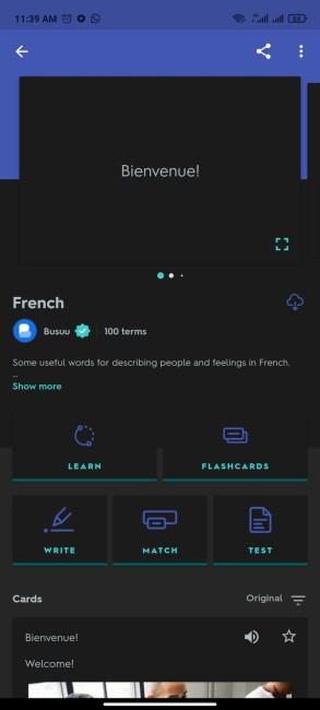 The Quizlet App
