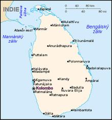 ostrov Srí Lanka