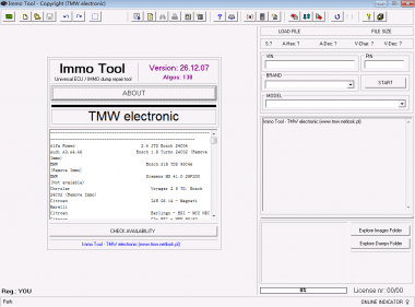 IMMO TOOL V26 ECUs and immobilisers Software ,immo tool
