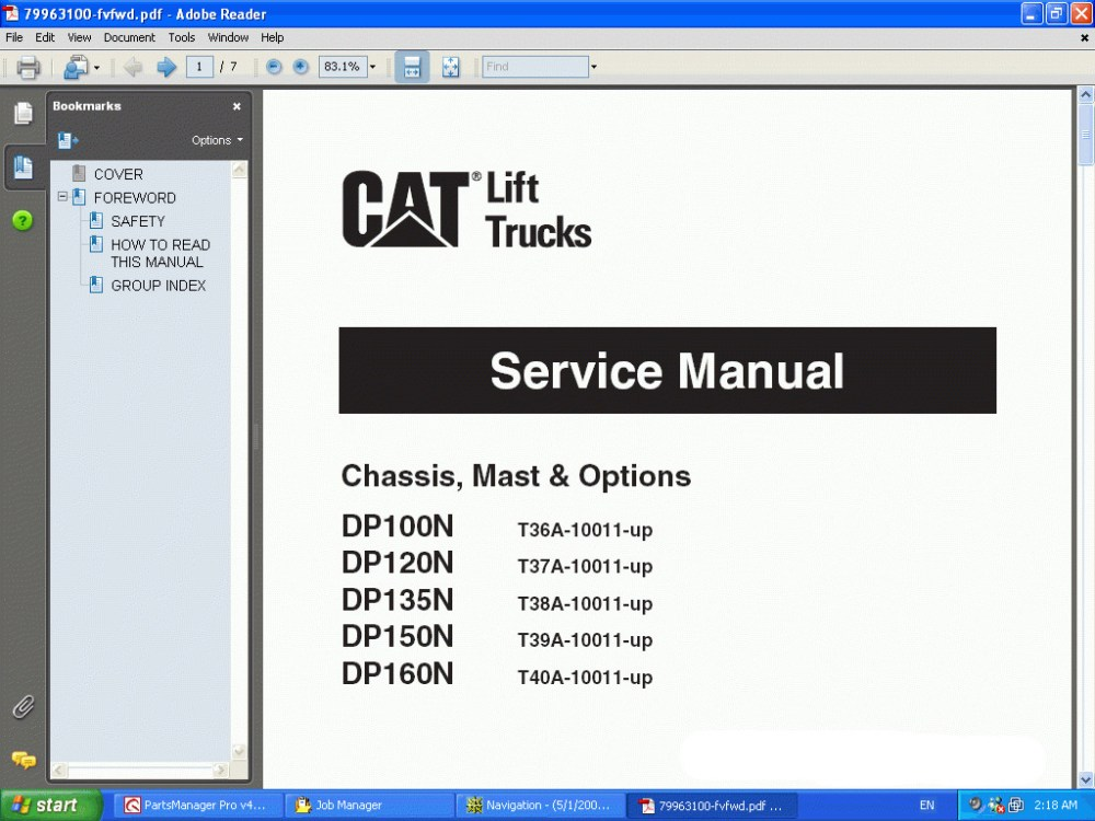 medium resolution of caterpillar lift trucks 2014 spare parts catalog workshop repair manual