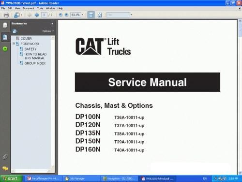 small resolution of caterpillar lift trucks 2014 spare parts catalog workshop repair manual