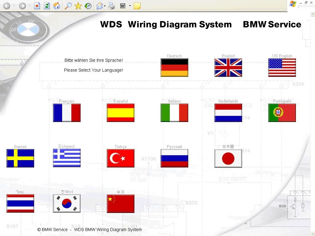 WDS V14 Wiring Diagram System Software DVD
