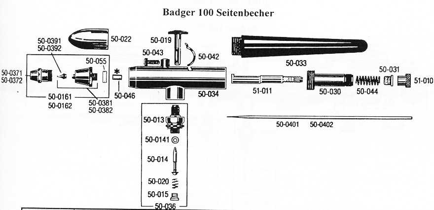 Badger 100 Sidefeed