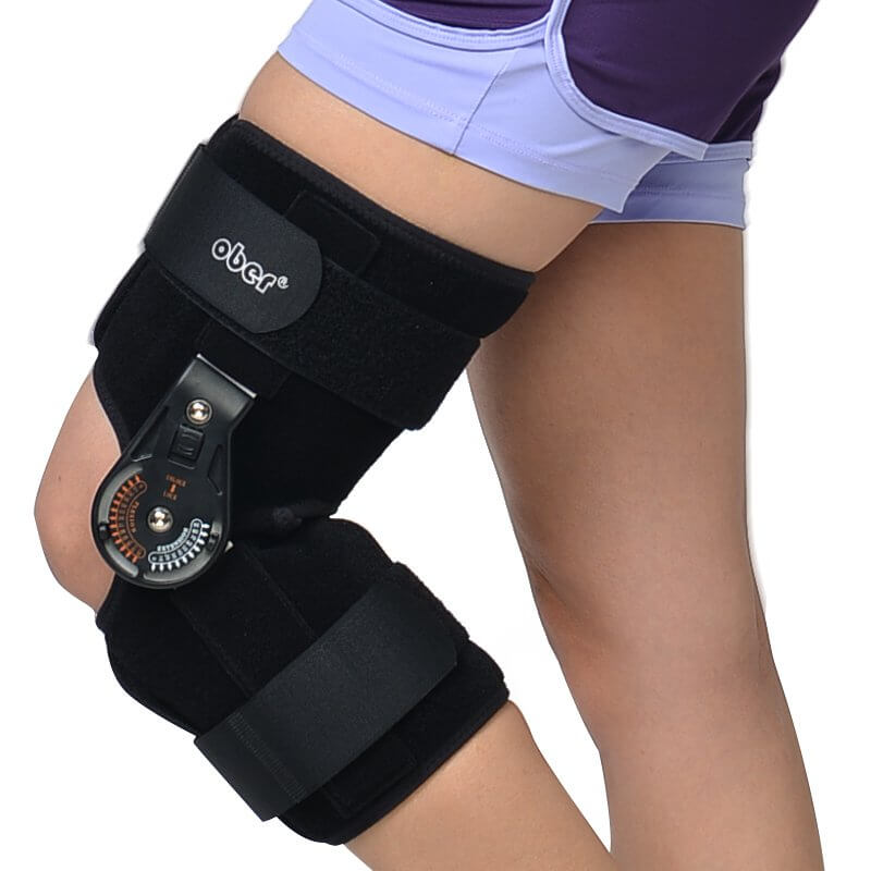 Hinged ROM Knee Brace, Post Op Knee Brace for Recovery Stabilization, ACL, MCL and PCL Injury Hinged Knee Braces Ober Health