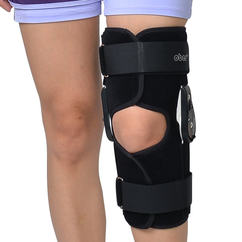Hinged ROM Knee Brace, Post Op Knee Brace for Recovery Stabilization, ACL, MCL and PCL Injury Hinged Knee Braces Ober Health 3