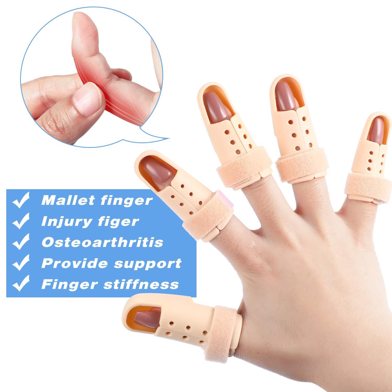 10 Pieces Finger Splint, Mallet Finger Support, Straighten Finger Plastic Finger Protector Wrist Brace Ober Health 3