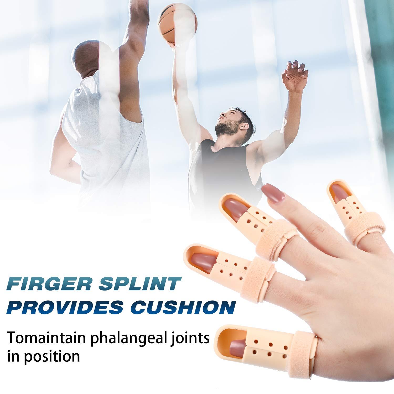 10 Pieces Finger Splint, Mallet Finger Support, Straighten Finger Plastic Finger Protector Wrist Brace Ober Health 7