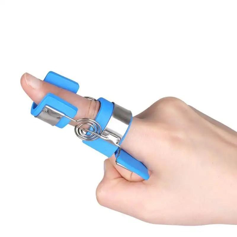 Finger Splint Aluminium with Blue Soft Foam Stroke Cerebral Hemiplegia Spasm Finger Flexion-Training Fixation Nursing-Ober wrist brace Ober Braces