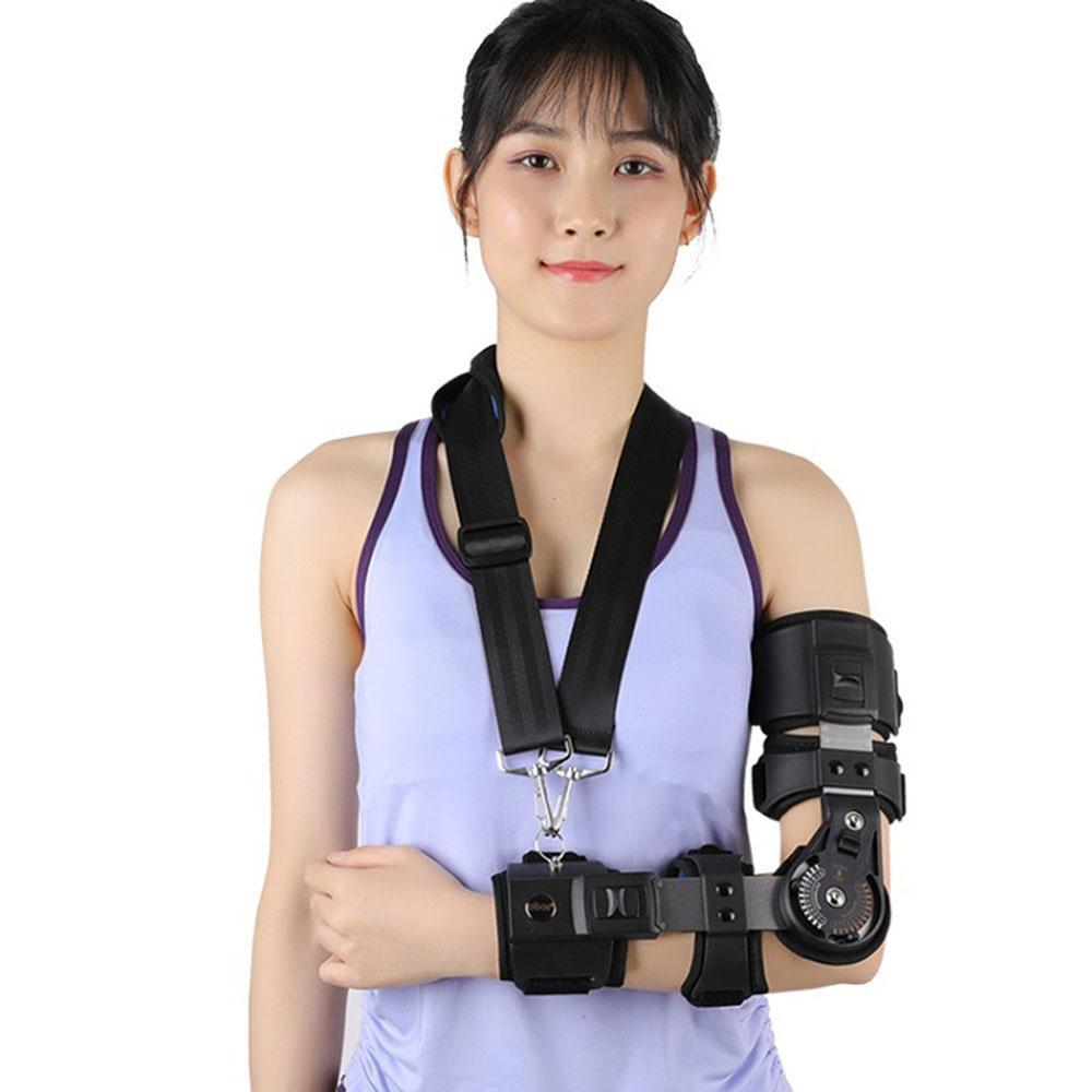 Hinged ROM Elbow Brace with Sling, Adjustable Post OP Elbow Brace Stabilizer Splint Arm Injury Recovery Support - Ober Arm & Elbow Ober Braces