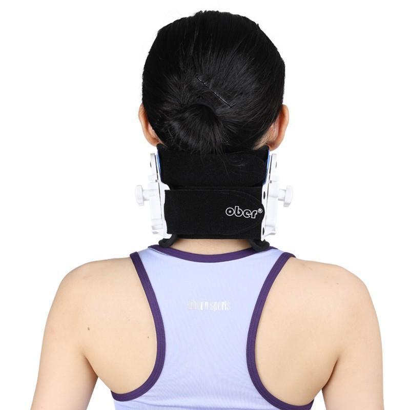 Medical Cervical Vertebra Tractor Neck Brace Support Neck Collar Correct Adjustable Traction Treatment Posture Height OBER neck brace Ober Braces