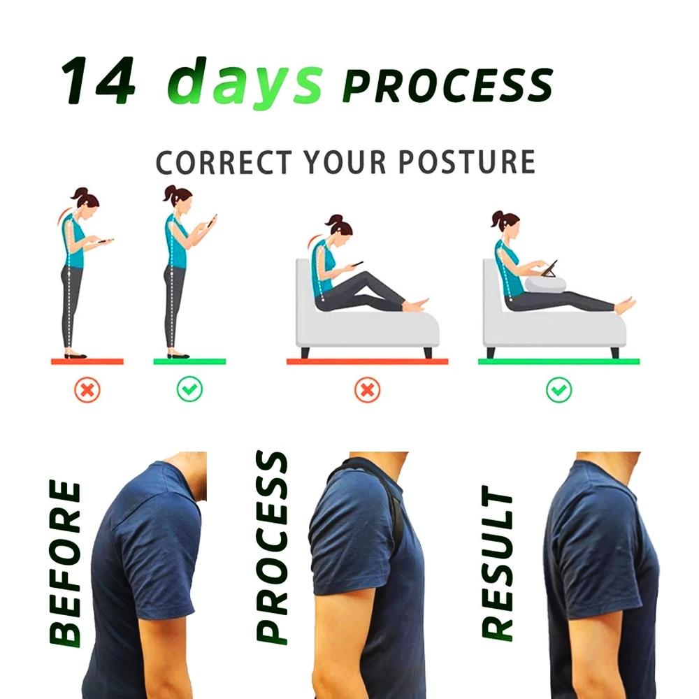 Adjustable Back Shoulder Posture Corrector for Women and Men Back Brace Ober Health 6