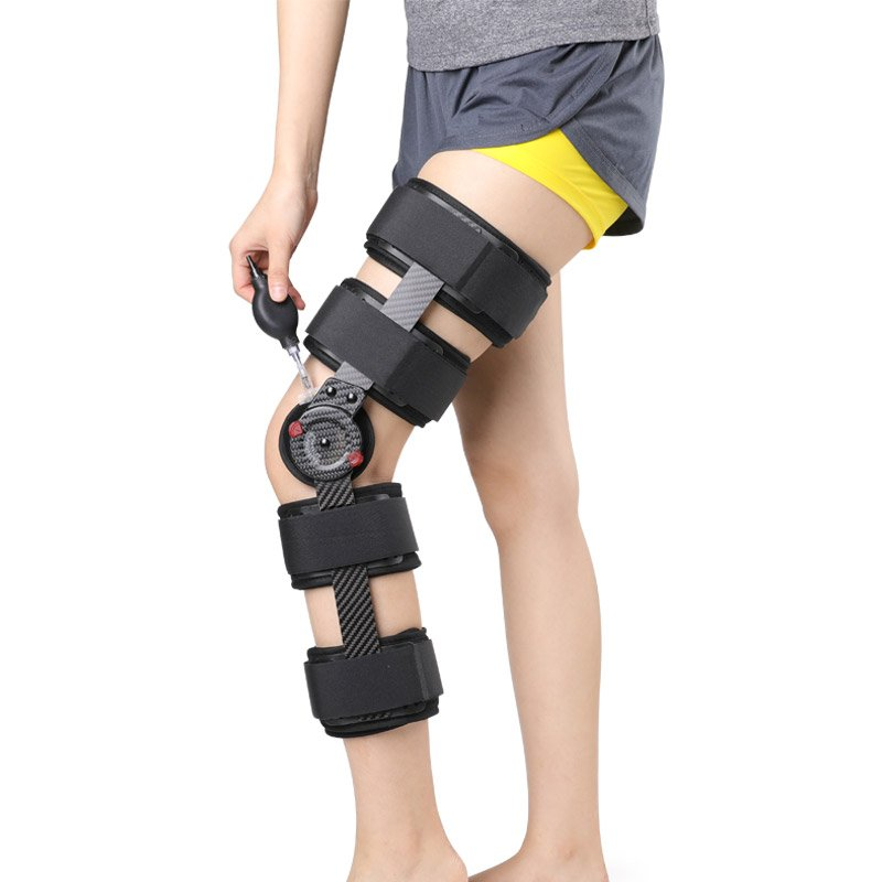 Carbon Fiber Knee Brace Support For ACL PCL MCL Hinged Knee Braces Ober Health 3
