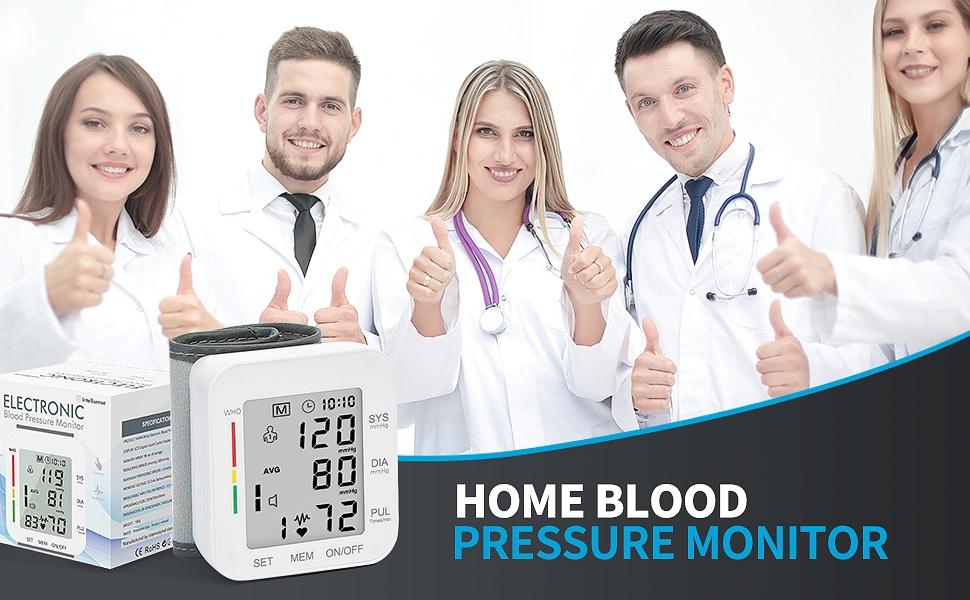 Blood Pressure Monitor LCD Display Adjustable Wrist Cuff Blood Pressure Monitors Ober Health 18