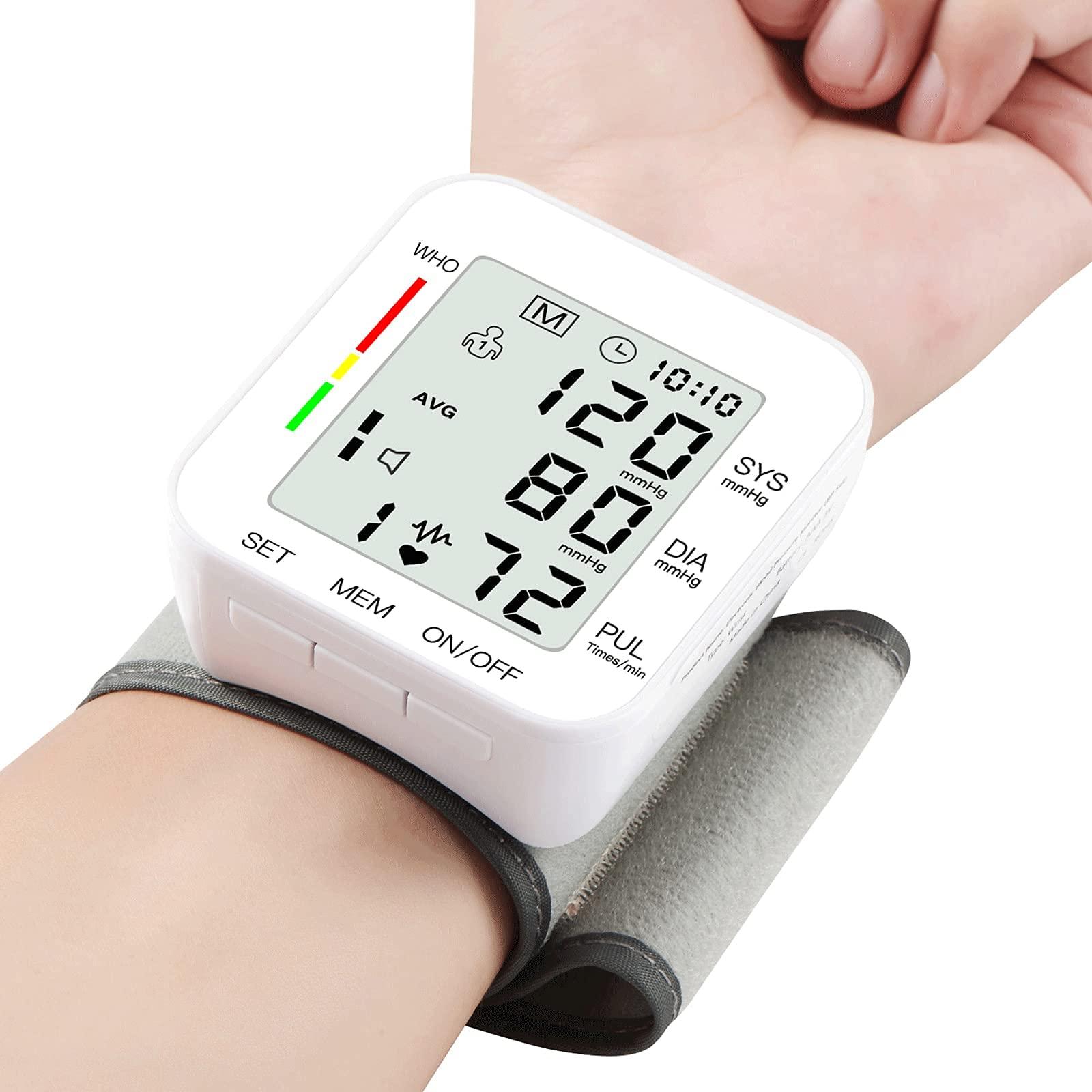 Blood Pressure Monitor LCD Display Adjustable Wrist Cuff Blood Pressure Monitors Ober Health