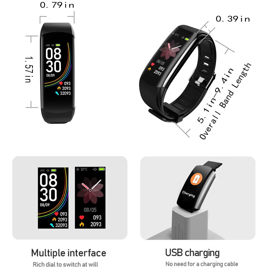 Fitness Tracker with Body Temperature Blood Pressure Oxygen Heart Rate Sleep Monitor Heart Monitors Ober Health 4