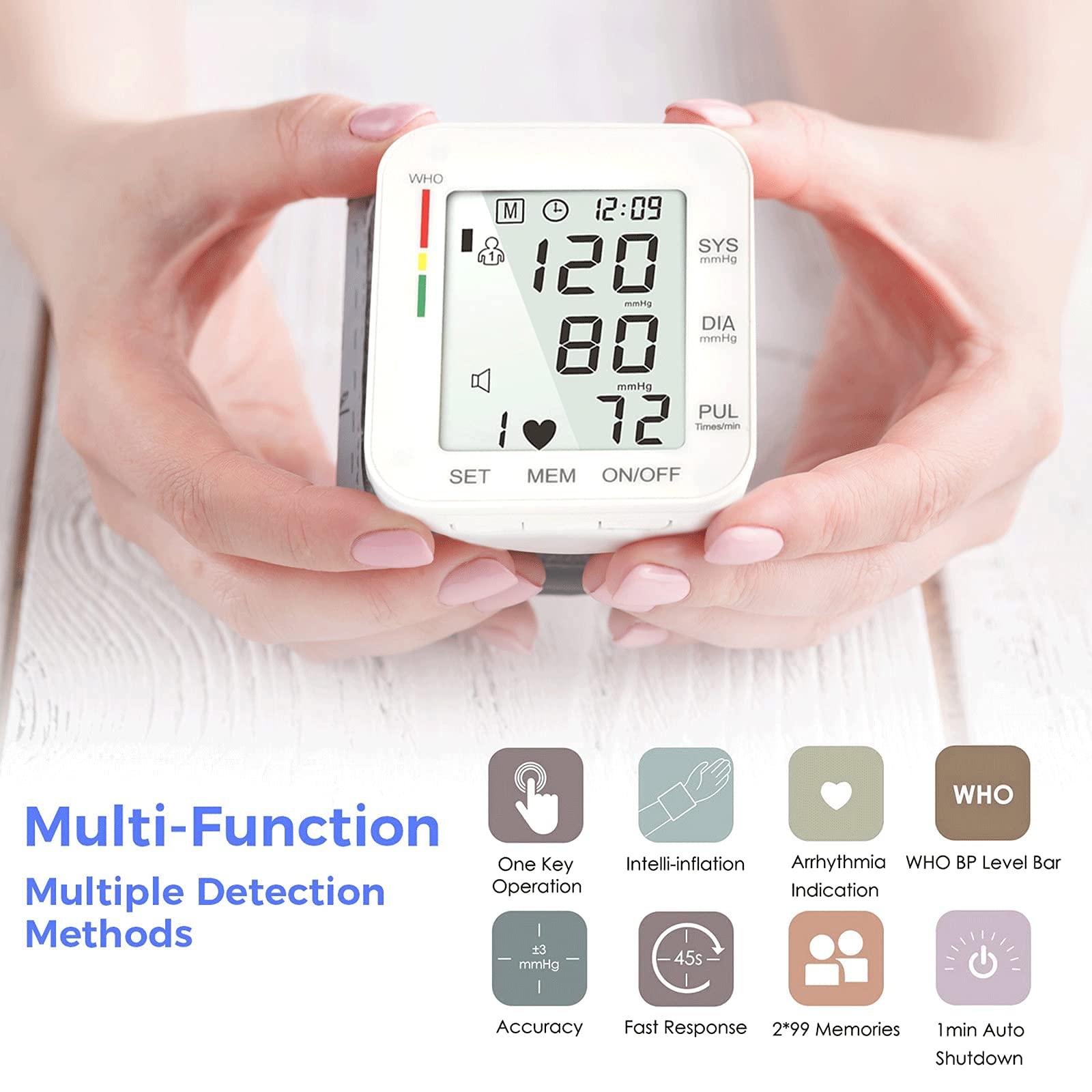 Blood Pressure Monitor LCD Display Adjustable Wrist Cuff Blood Pressure Monitors Ober Health 7