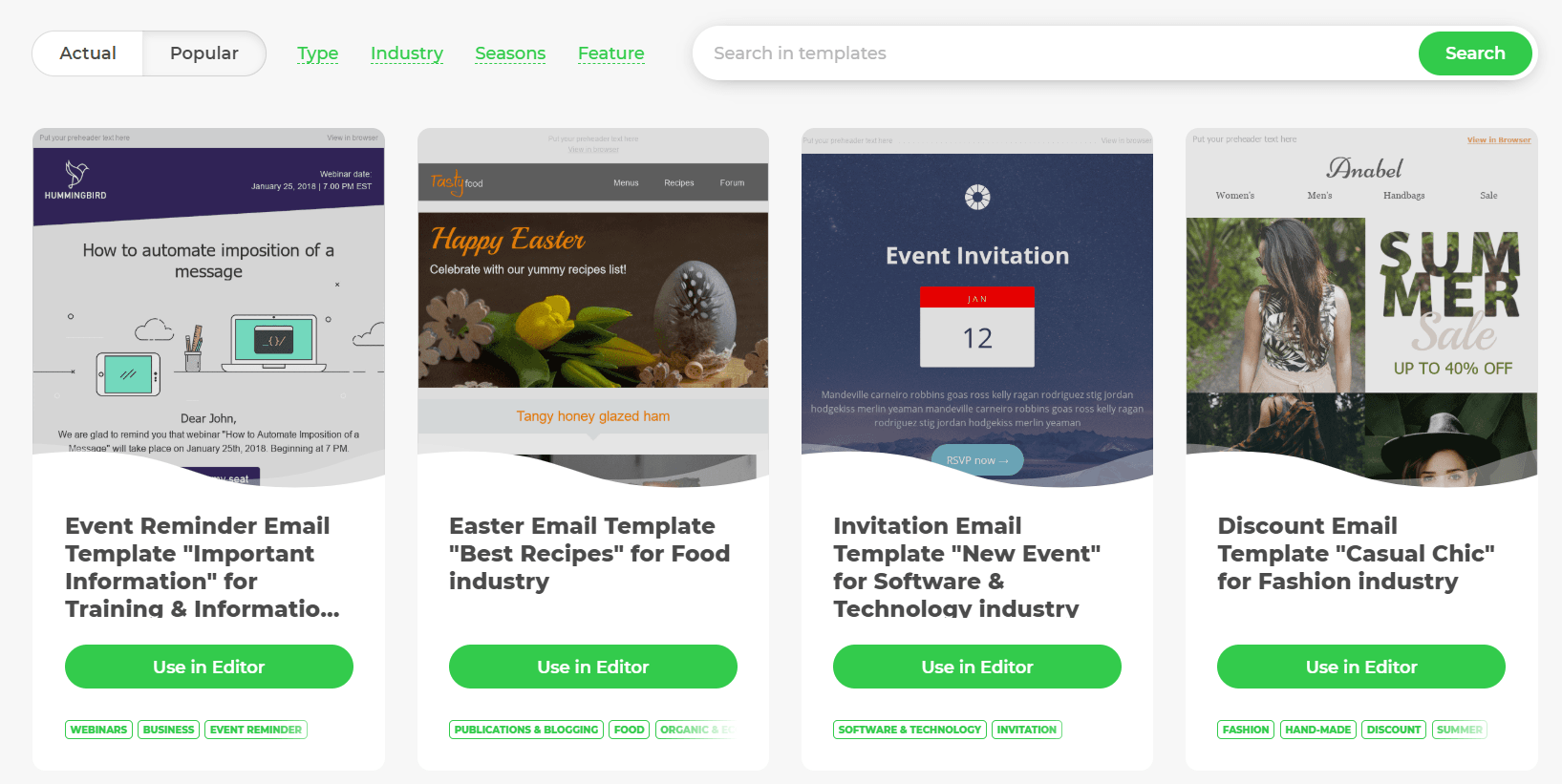 Sonata by web canopy studio; List Of The 11 Best Email Newsletter Templates