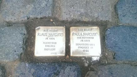 Stolpersteine für Klaus und Paula Marcuse