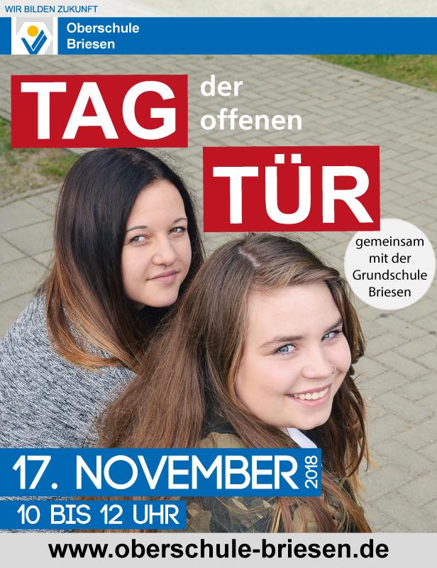 Oberschule Briesen_Tag der offenen Tür am 17. November 2018_Plakat