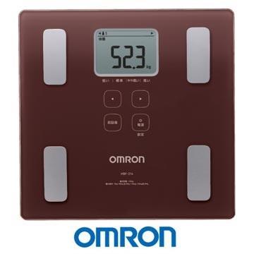 OMRON 歐姆龍體脂計 HBF-214(褐色)
