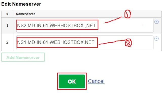 change name server of your domain name