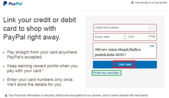 create paypal account and verify paypal account