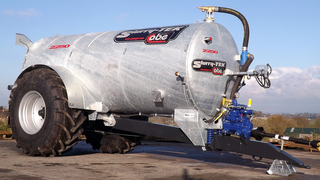Galvanised slurry tanker