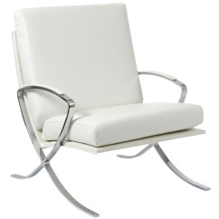 Leather And Chrome Chairs Steelcase Amia Chair Manual Usage Of White Armchair