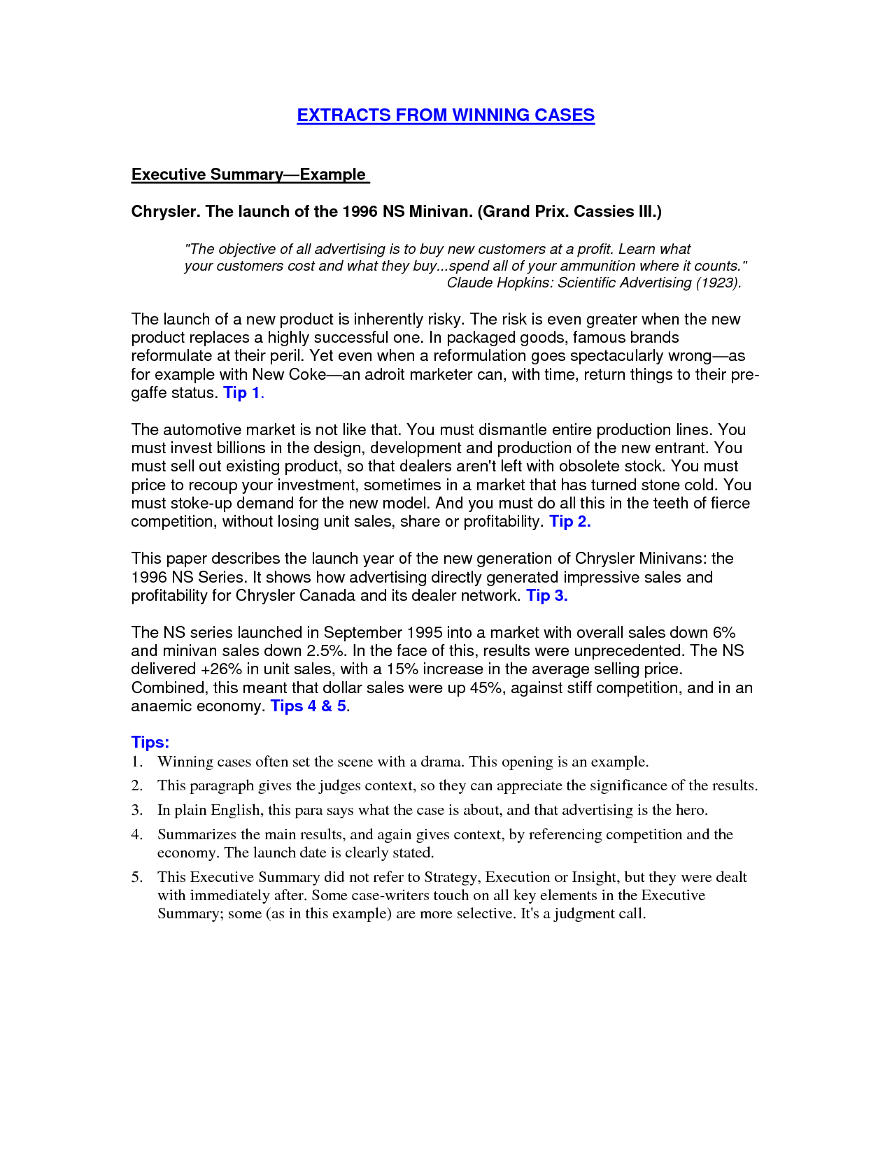 brief resume example - Example Of A Written Resume
