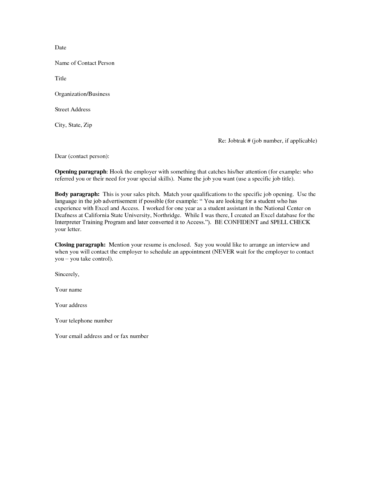A Resume Cover Letter Jianbochen Com
