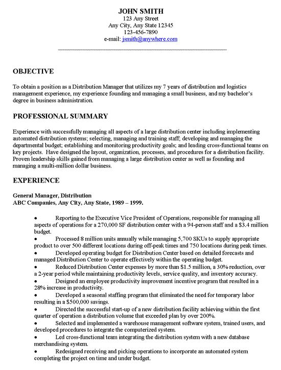 Examples Of Objectives For Resumes How To Write A Career