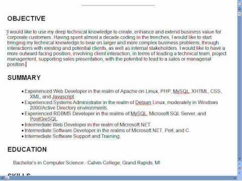 career objective statements