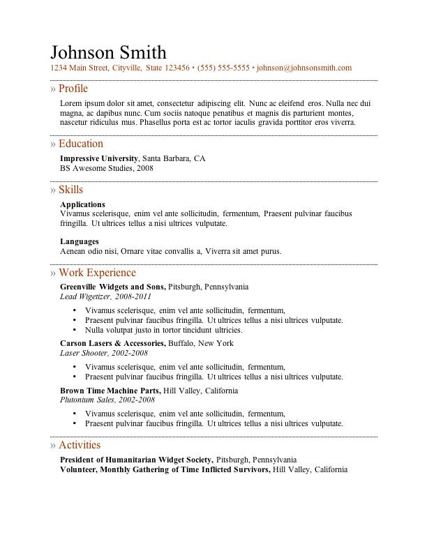 Free Downloadable Resume Templates Obfuscata