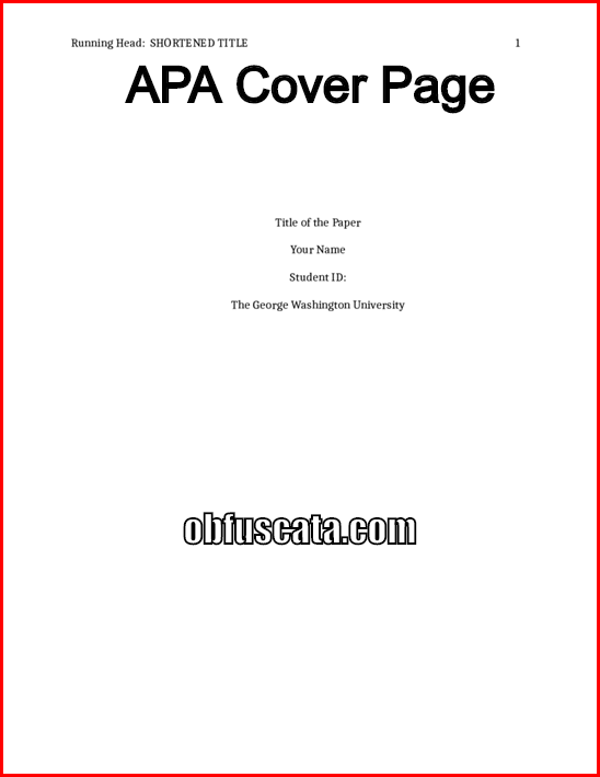 whats a cover page