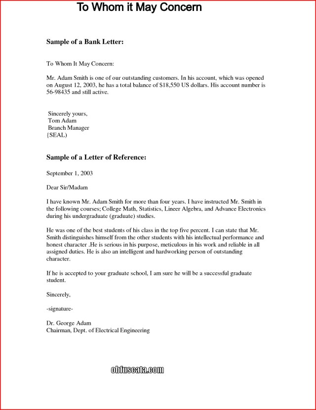 Should you write to whom it may concern on a cover letter August 28
