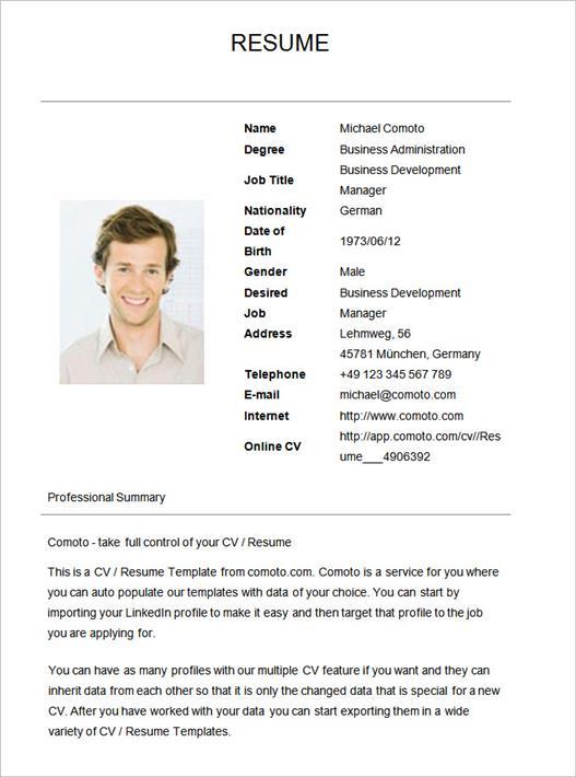start up resume samples