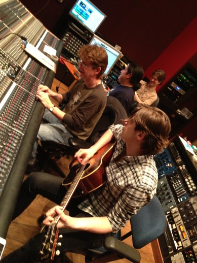 Obie and Patrick at the board, JC on ProTools, recording in Studio D at Blackbird Studios in Nashville, TN