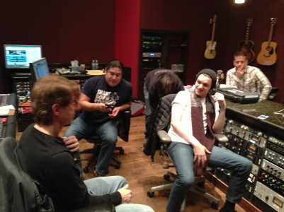 Obie, JC Monetrrosa, Patrick and the band in Studio D at Blackbird Studios in Nashville, TN