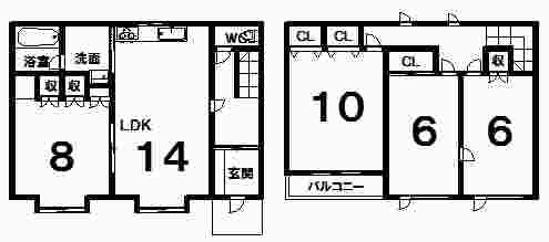 西2条南33丁目12貸家間取