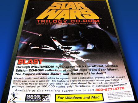 Star Wars Screen Saver Utility, advertisement, 1996