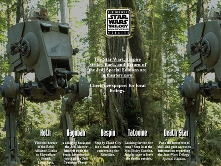 The official Star Wars website launches in conjunction with Special Edition effort.