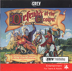 Click to play video on You Tube: Defender of the Crown on the CDTV. Note how little difference there is to the original floppy version. Cinemaware was one of the first (and last) developers to support Commodore's failed CDTV home entertainment console.