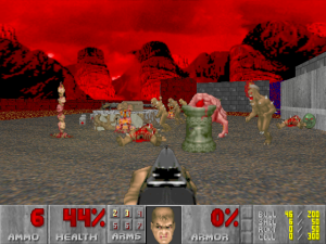 The original Doom by John Carmack and John Romero, published by id Software created a world of terror brought to life by seriously advanced coding techniques pioneered by Carmack and Romero. Nevertheless, CPUs had also advanced significantly, to make Doom and its sequels the stuff of legends. CD-ROM acrutements were glaringly (and thankfully) absent. Design alone mattered.