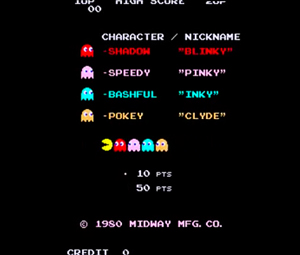 """Midway's Pac Man literally """"starred"""" a whole roster of quirky ghosts, who engaged in funny interstitials in between stages, a seismic innovation that was the starting point for """"narrative"""" gaming."""