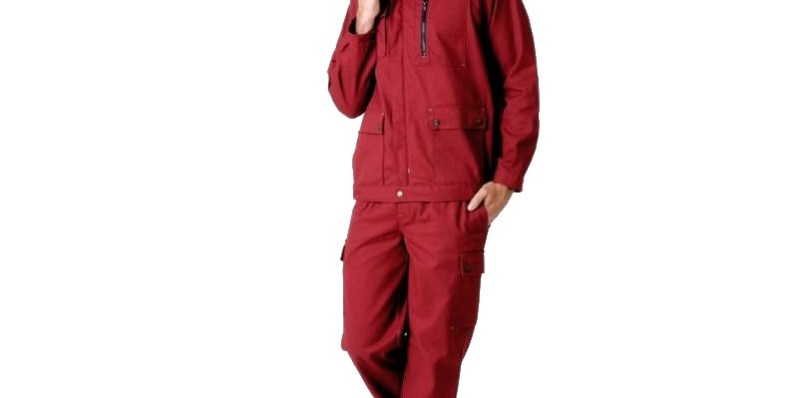 pantalon de travail rouge homme