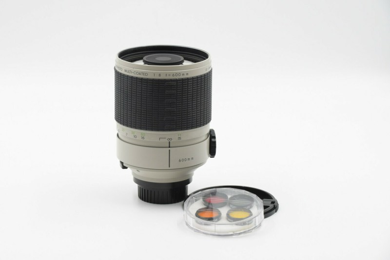 Objectif Tamron 600mm f8 filtres