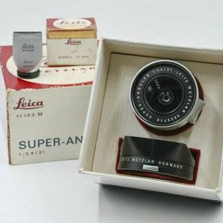 Leica M Super-angulon 21/3.4 chrome (1964) + Viseur